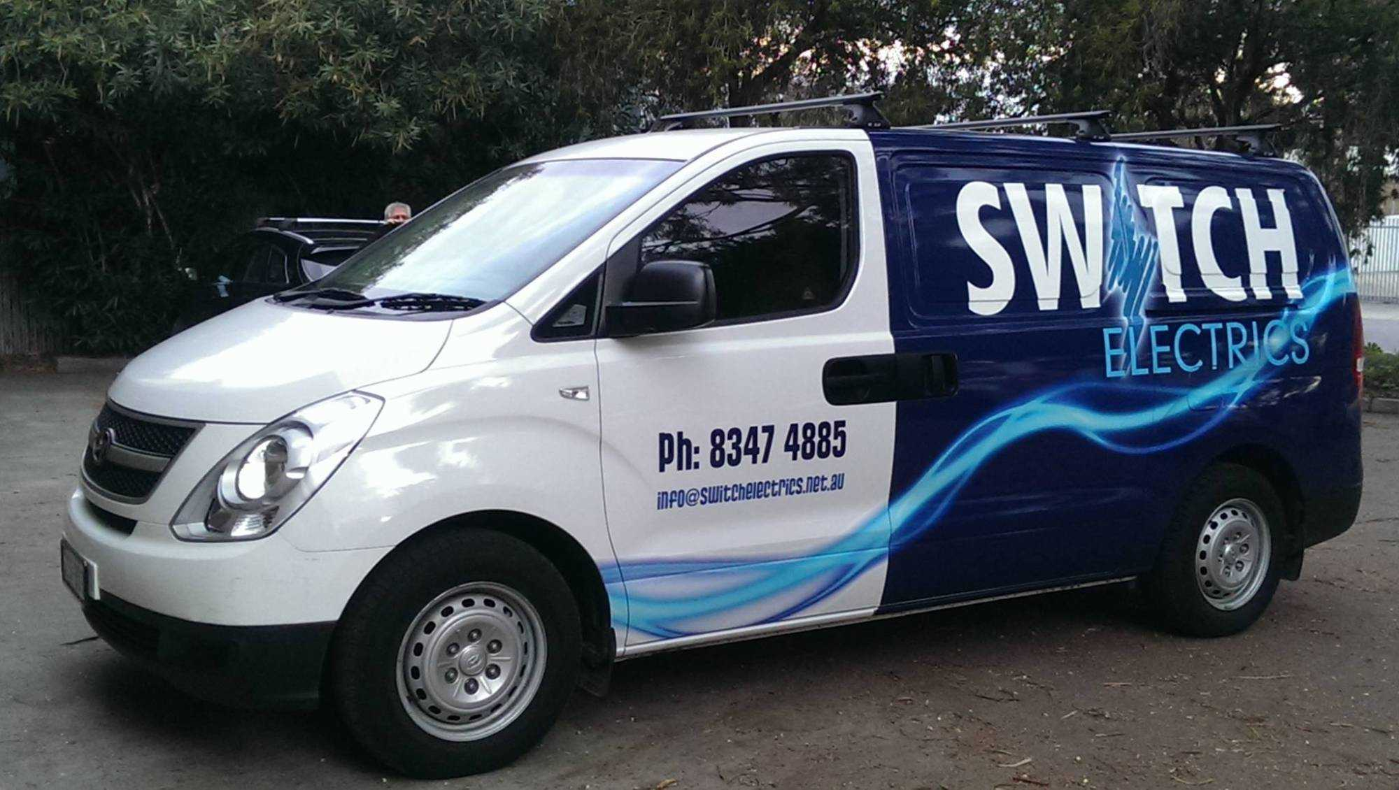Switch electrics fully stocked on site vans